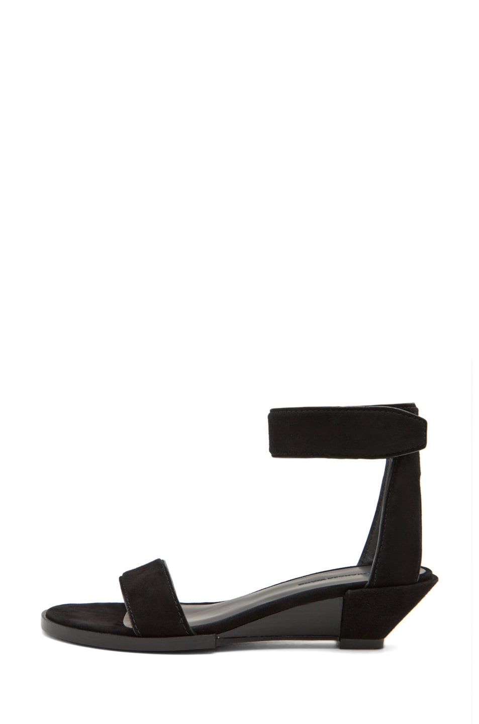 Image 1 of Alexander Wang Vika Wedge Sandal in Black Suede