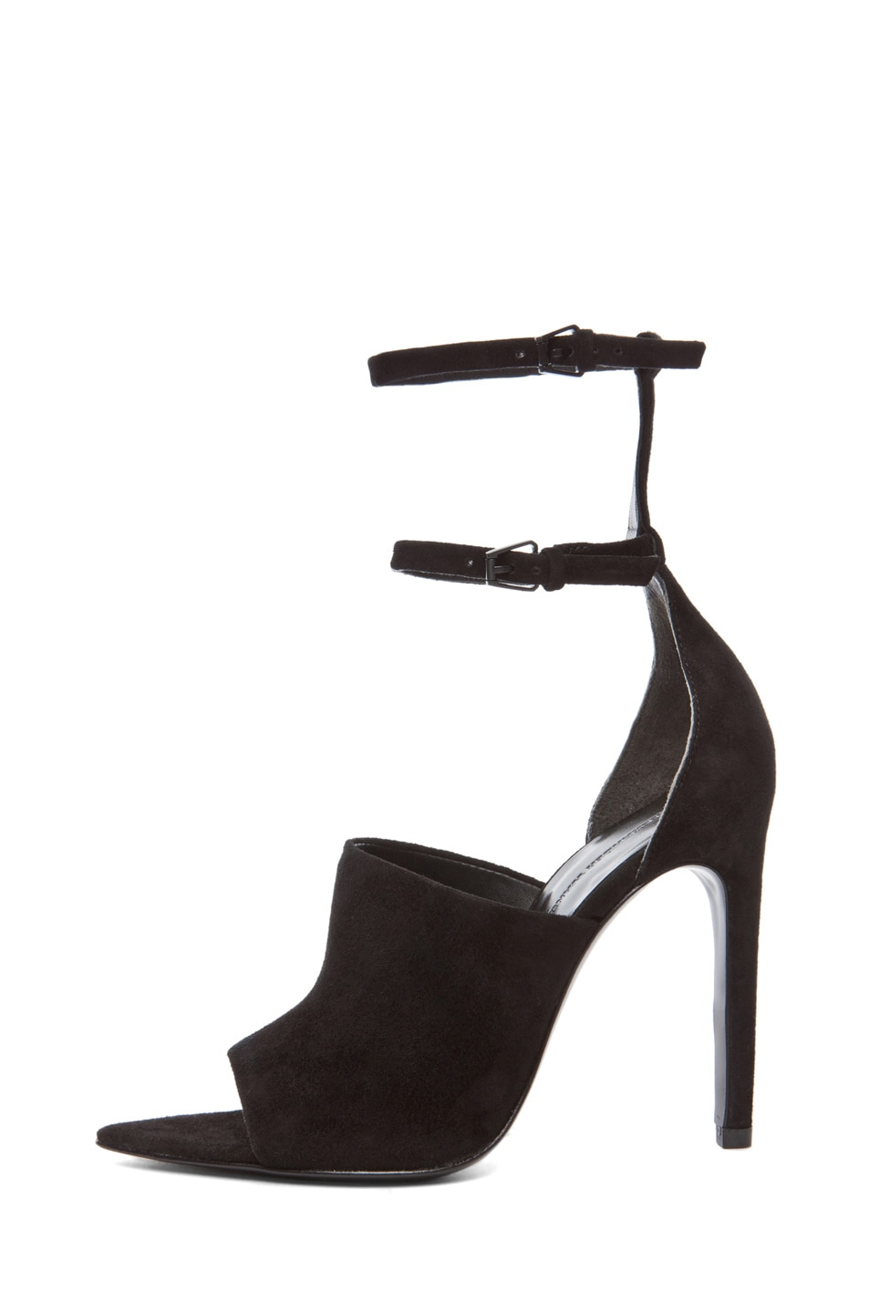 Image 1 of Alexander Wang Nikola Mule Suede Heel in Black
