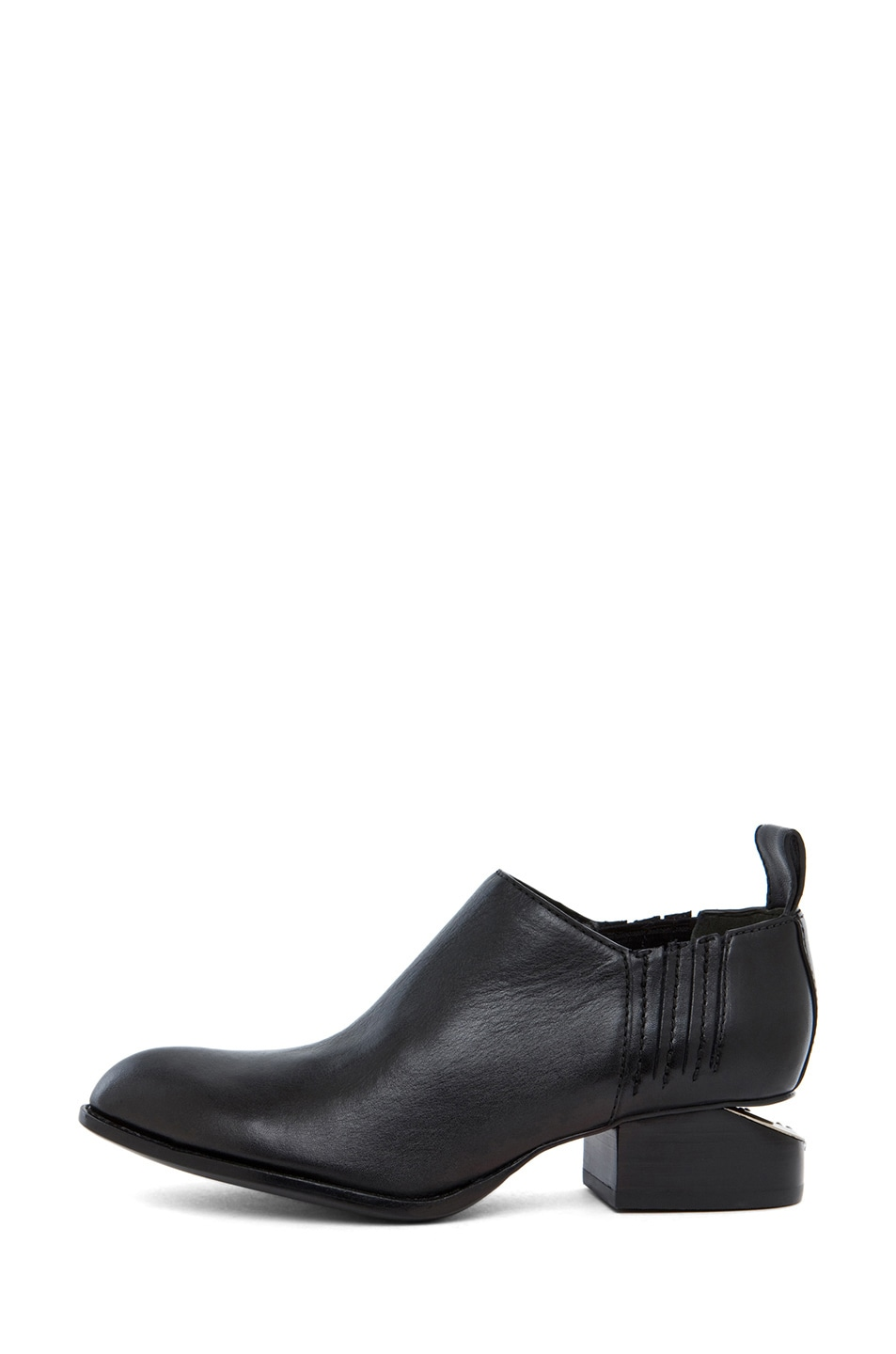 Image 1 of Alexander Wang Kori Leather Oxfords in Black