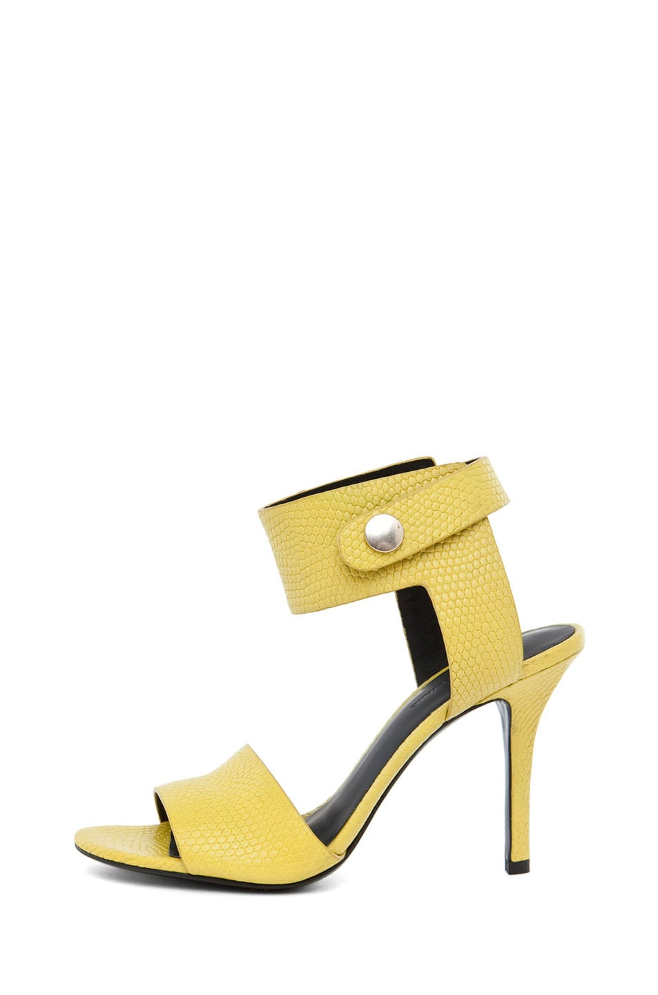 Image 1 of Alexander Wang Amber Lizard Print Sandal in Acid