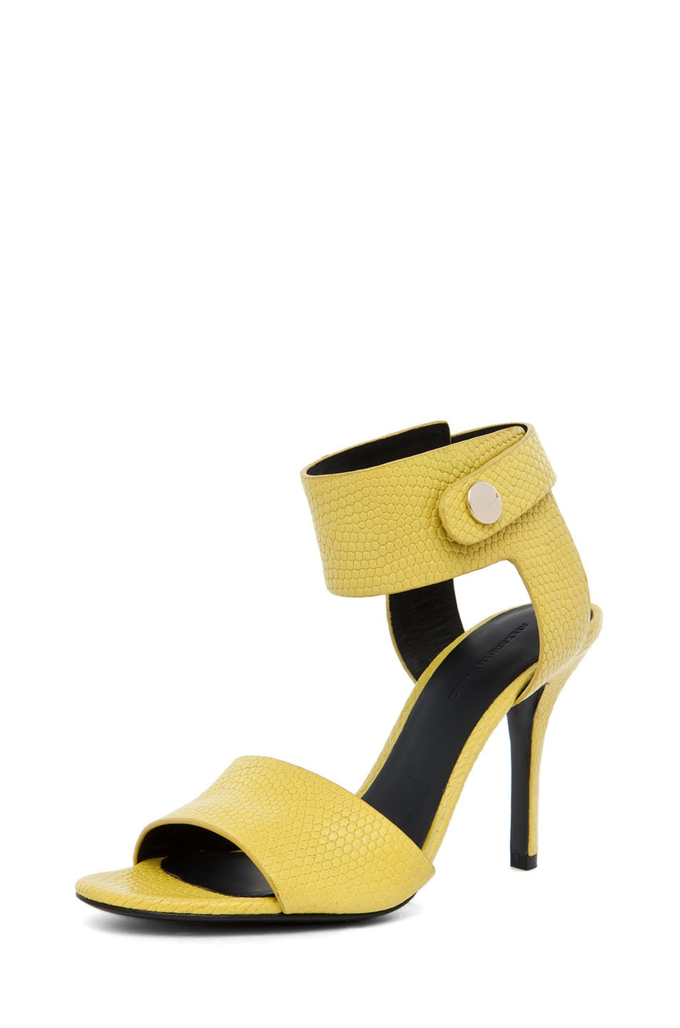 Image 2 of Alexander Wang Amber Lizard Print Sandal in Acid