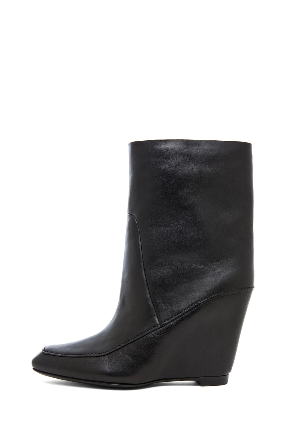 Image 1 of Alexander Wang Cato Leather Wedge Boot in Black