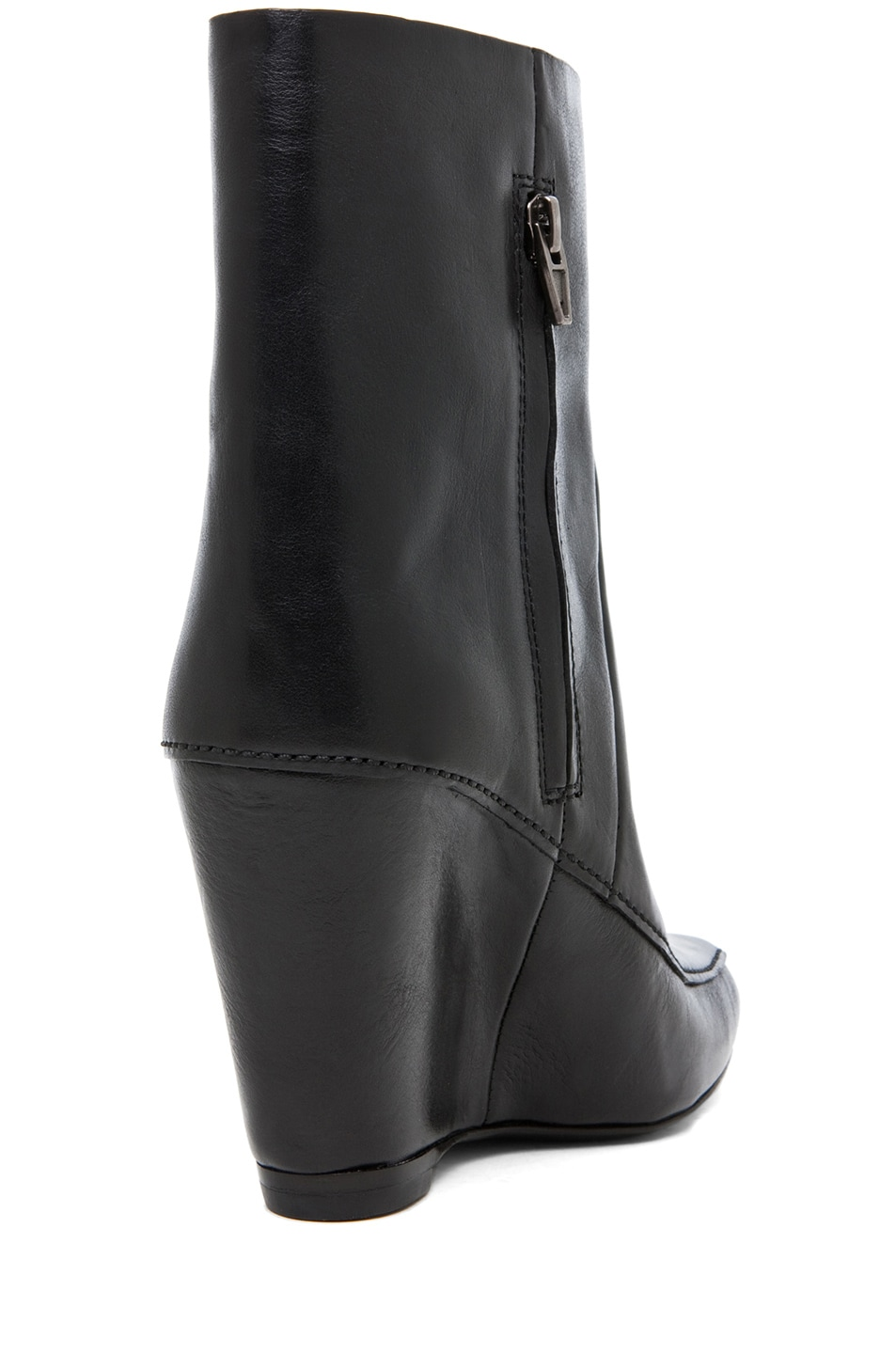 Image 3 of Alexander Wang Cato Leather Wedge Boot in Black