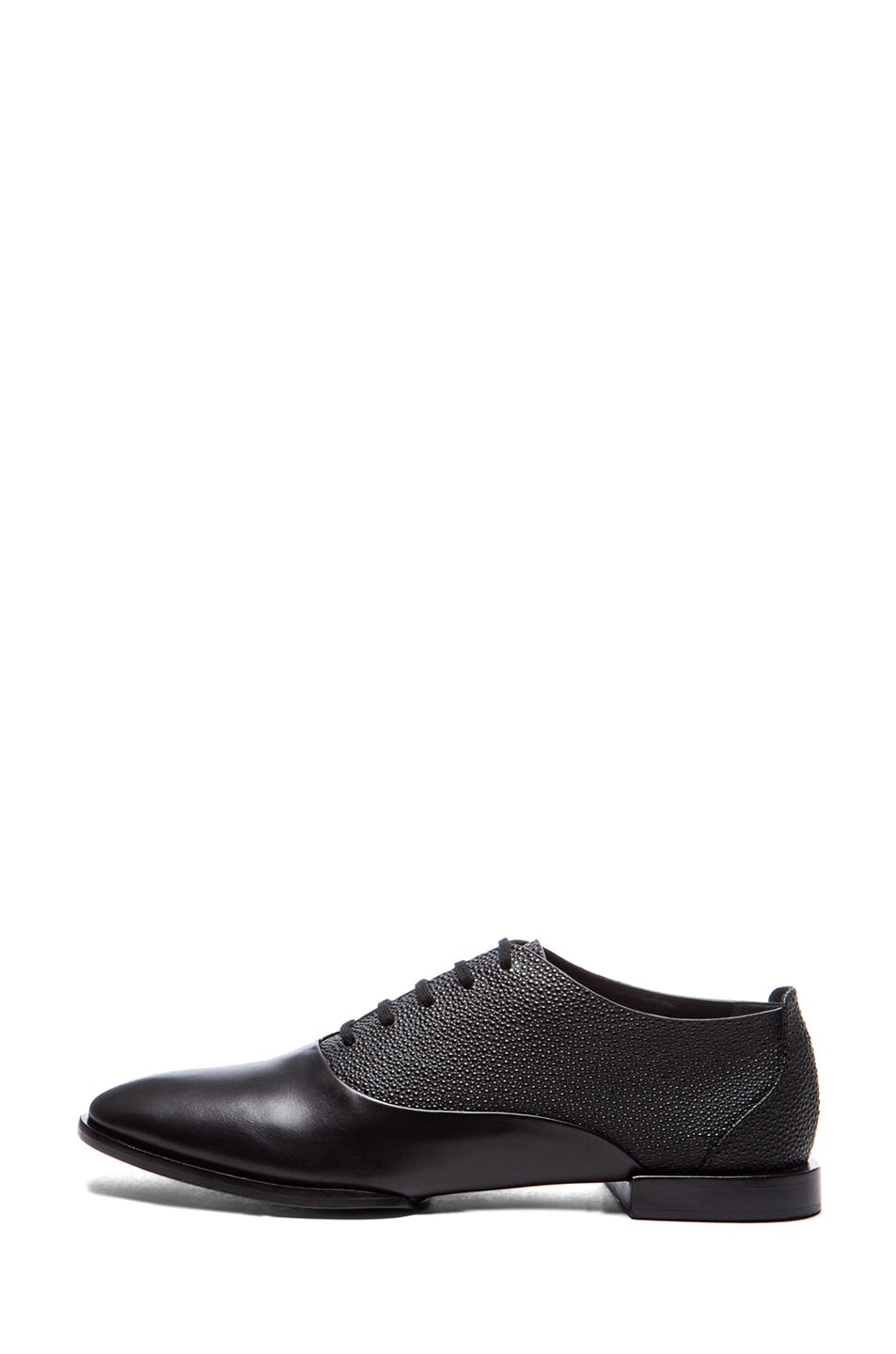 Image 1 of Alexander Wang Ingrid Leather Oxfords in Black