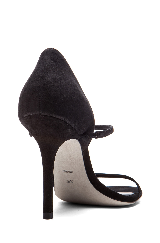 Image 3 of Alexander Wang Stasya Suede Heels in Black