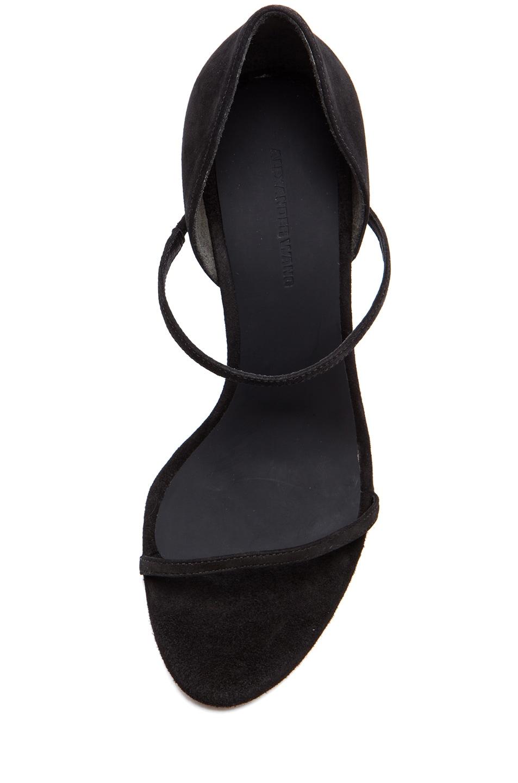 Image 4 of Alexander Wang Stasya Suede Heels in Black