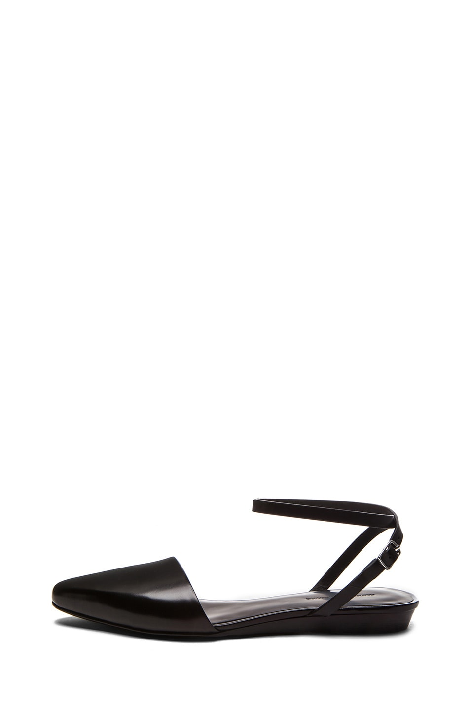 Image 1 of Alexander Wang Esther Polished Calfskin Leather Flat in Black