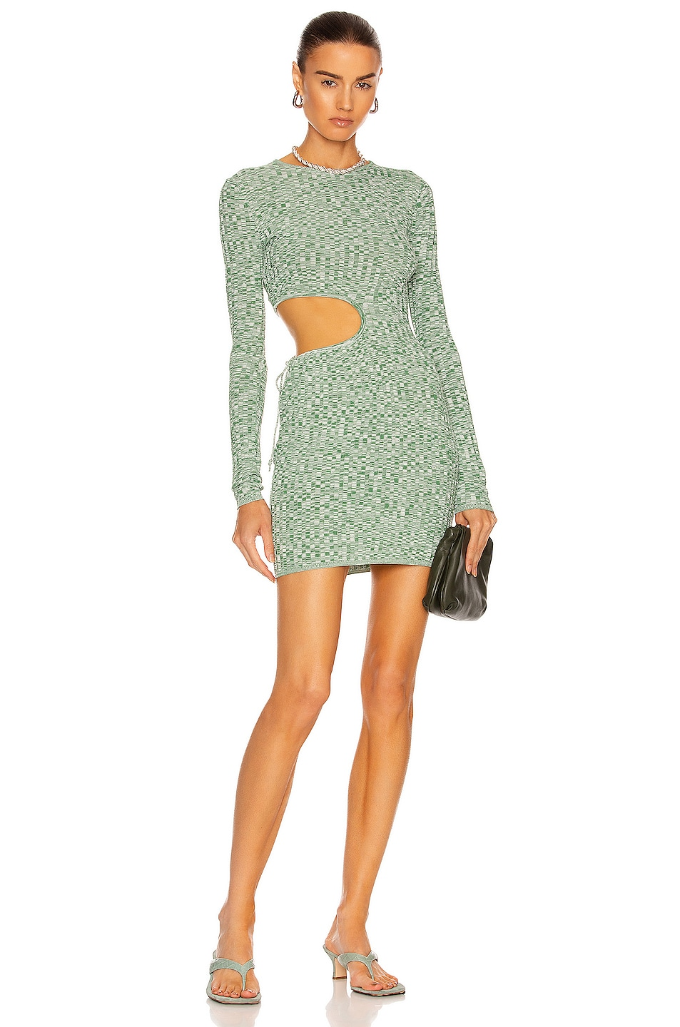 Image 1 of Aya Muse Turquoise Dress in Heather Green