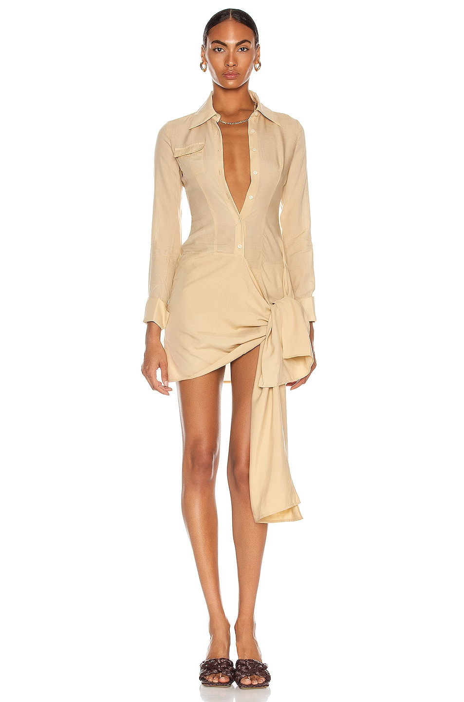 Image 1 of Aya Muse Lennox Dress in Beige