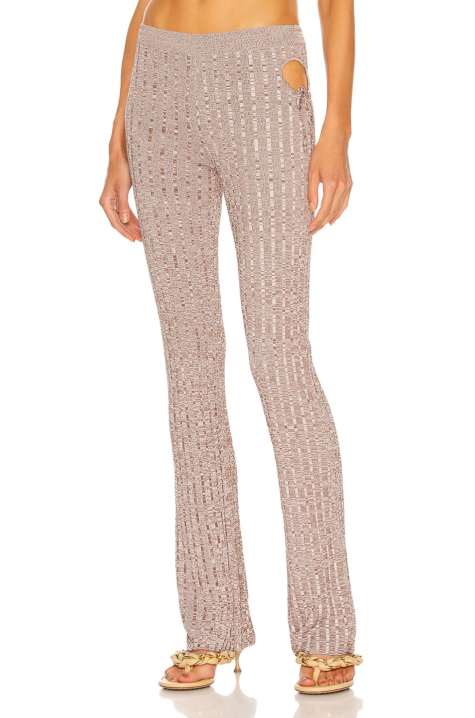Image 1 of Aya Muse Emzar Knit Pant in Heather Brown