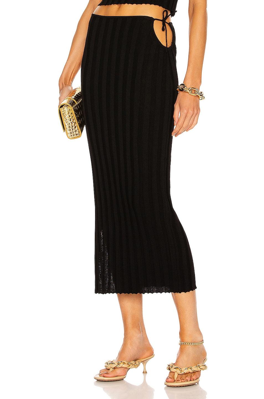 Image 1 of Aya Muse Emerald Skirt in Black