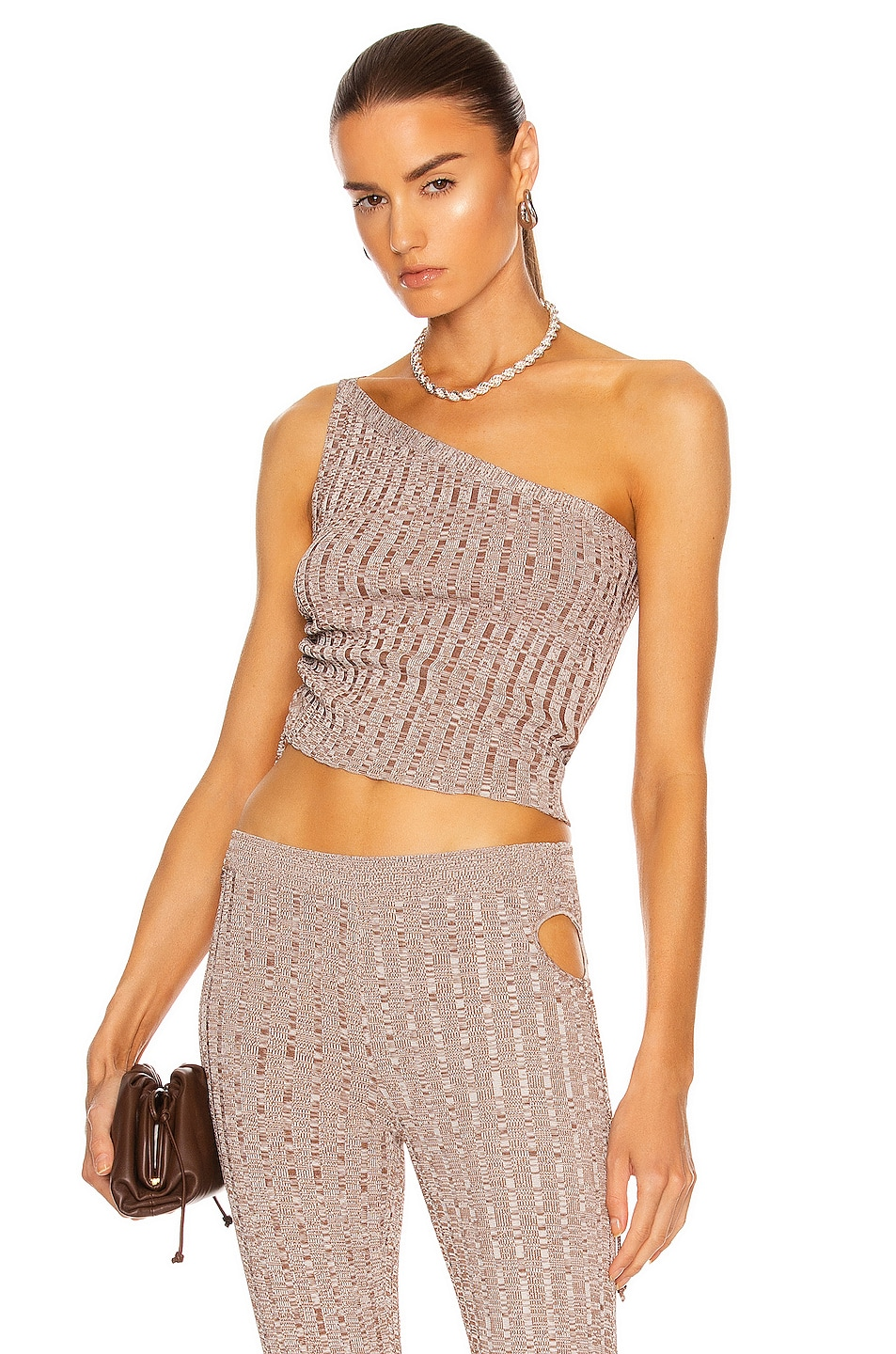 Image 1 of Aya Muse Emzar Knit Top in Heather Brown