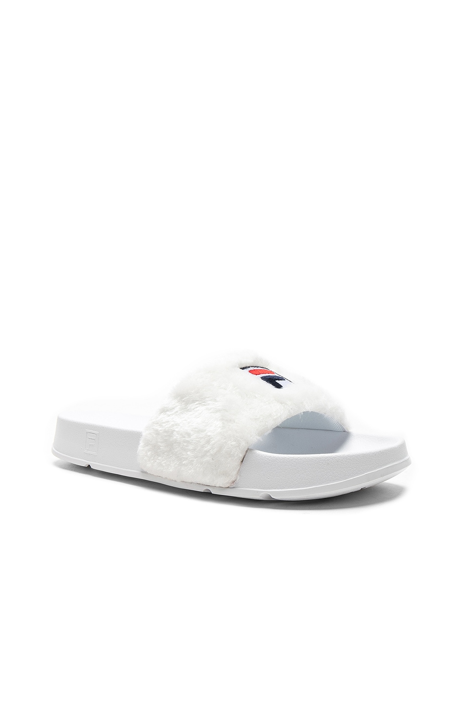 Image 1 of Baja East x Fila Faux Shearling Slides in Pearl