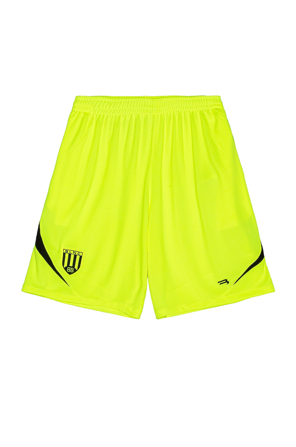 Image 1 of Balenciaga Soccer Shorts in Fluo Yellow & Black