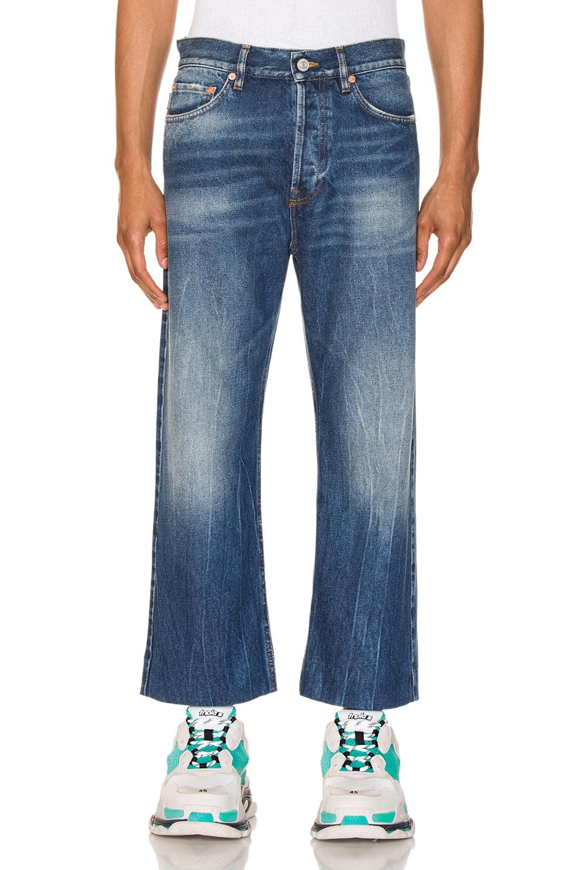 Balenciaga Jeans Cropped Denim Jeans