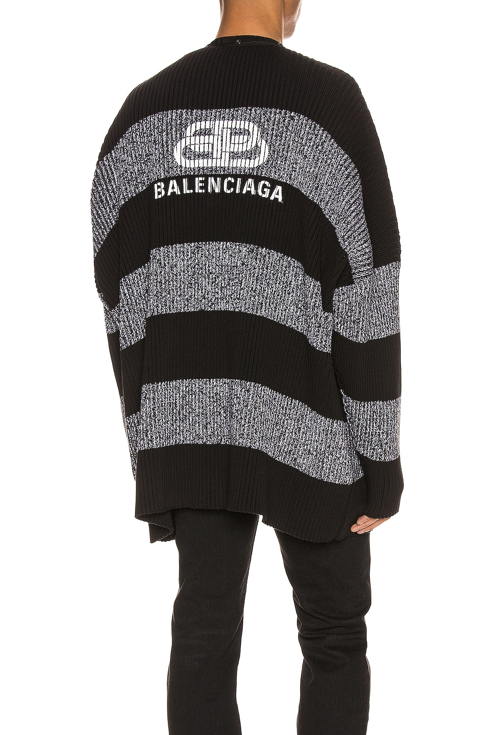 Image 1 of Balenciaga Long Sleeve Cardigan in Black & White