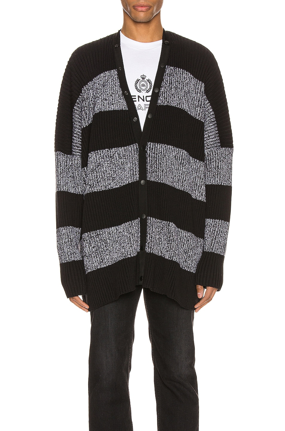 Image 3 of Balenciaga Long Sleeve Cardigan in Black & White