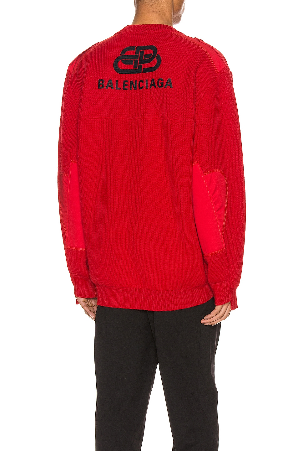 Image 1 of Balenciaga Long Sleeve Crewneck in Red