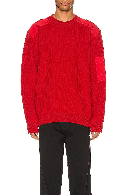Image 2 of Balenciaga Long Sleeve Crewneck in Red