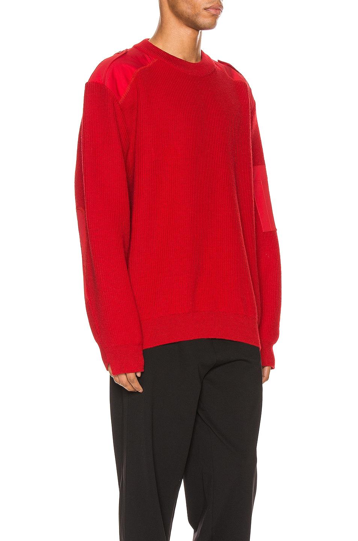 Image 3 of Balenciaga Long Sleeve Crewneck in Red