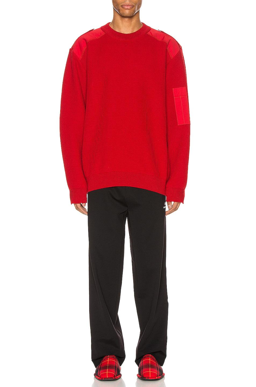 Image 6 of Balenciaga Long Sleeve Crewneck in Red