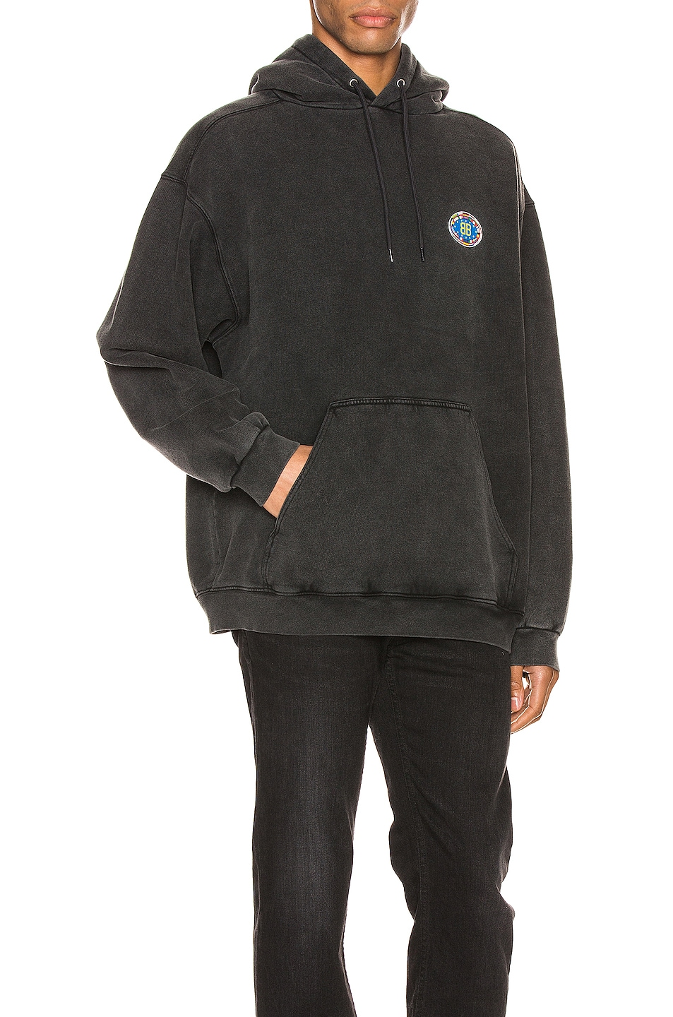 Image 2 of Balenciaga Hoodie in Anthracite