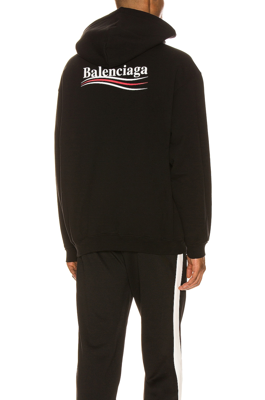 Image 1 of Balenciaga Medium Fit Hoodie in Black