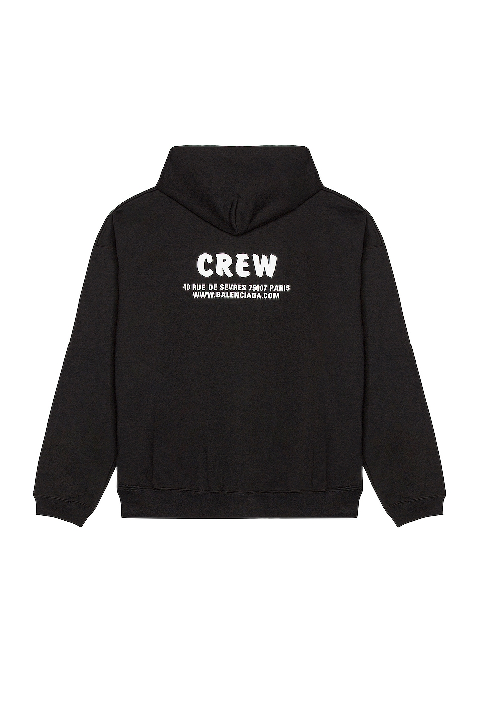 Image 1 of Balenciaga Large Fit Zip-Up Hoodie in Black & White