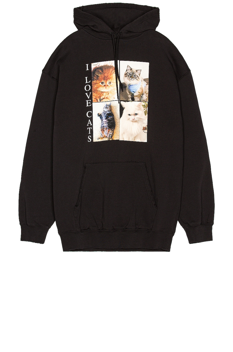 Image 1 of Balenciaga I Love Cats Hoodie in Black
