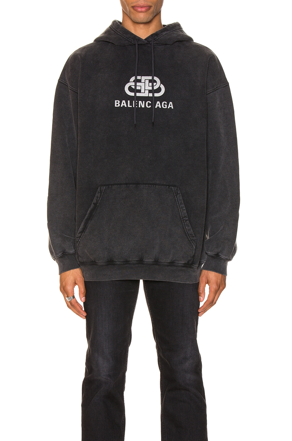 Image 1 of Balenciaga BB Hoodie in Anthracite
