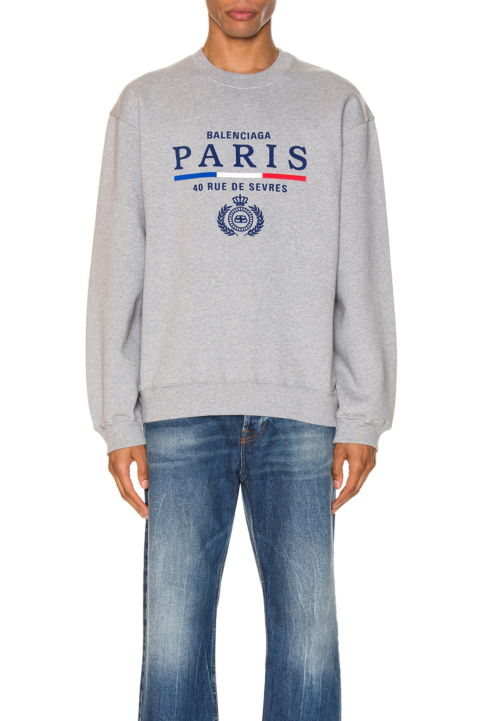 Balenciaga Sweaters Paris Flag Crewneck