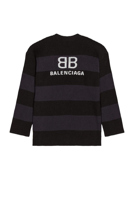 Image 1 of Balenciaga Long Sleeve Crewneck in Ink & Black