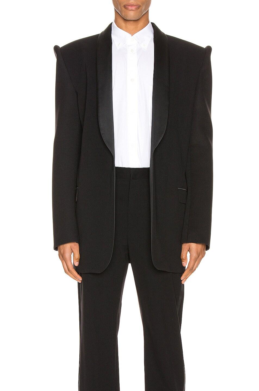 Image 1 of Balenciaga Suspend Tux Jacket in Black