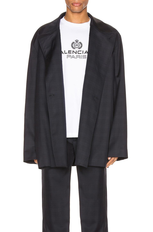 Image 1 of Balenciaga Flap Jacket in Dark Navy