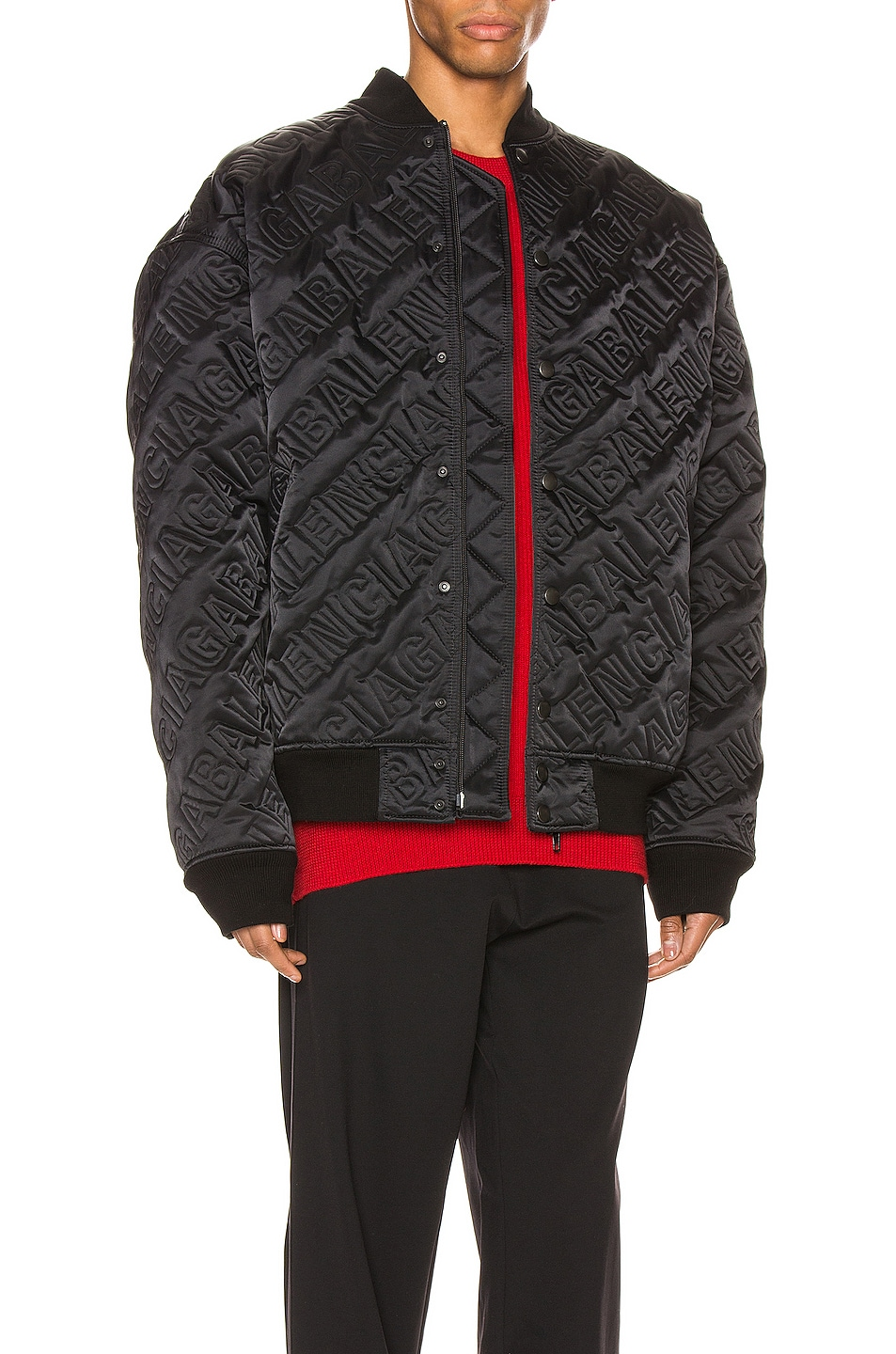 Image 3 of Balenciaga Quilted Bomber in Black