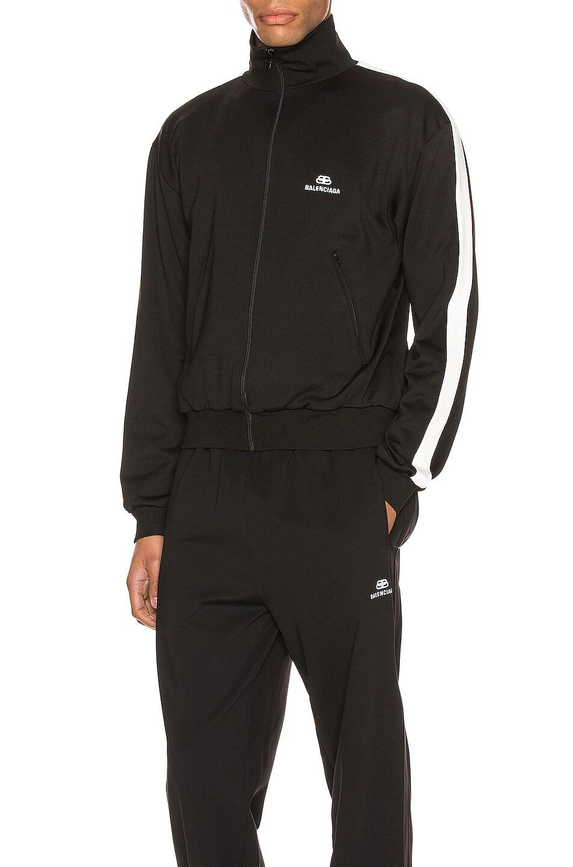 Image 1 of Balenciaga Zip-Up Jacket in Black & White
