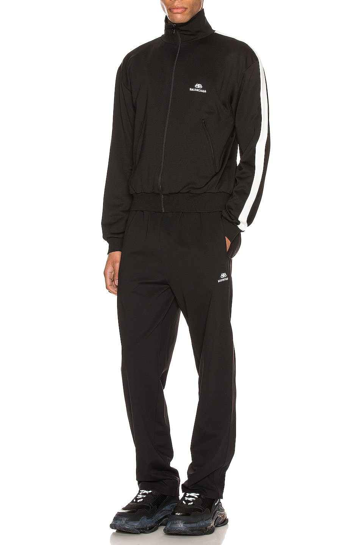 Image 5 of Balenciaga Zip-Up Jacket in Black & White
