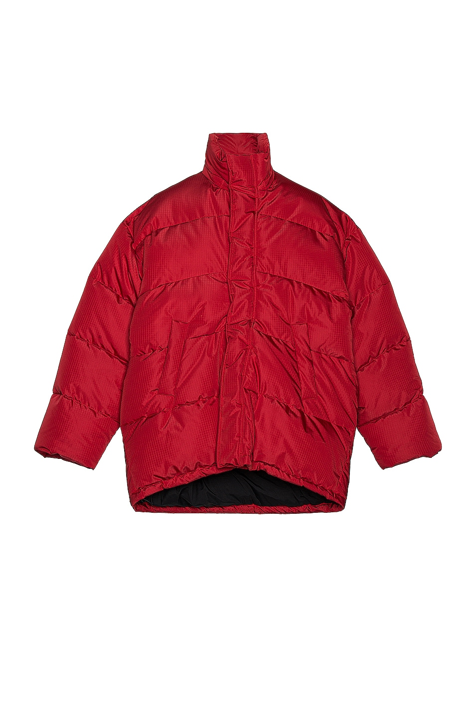Image 1 of Balenciaga C Shape Puffer Jacket in Red