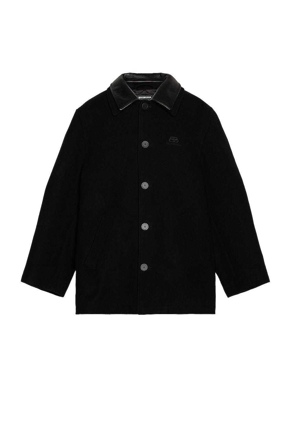 Image 1 of Balenciaga Double Collar Jacket in Black