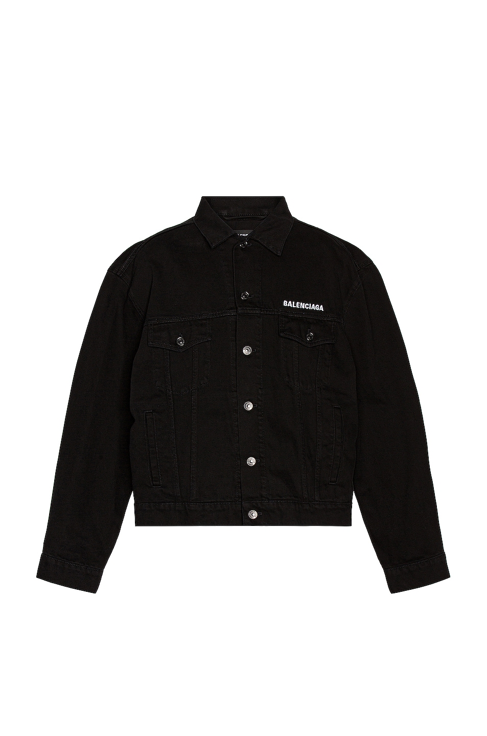 Image 1 of Balenciaga Large Fit Jacket in Pitch Black
