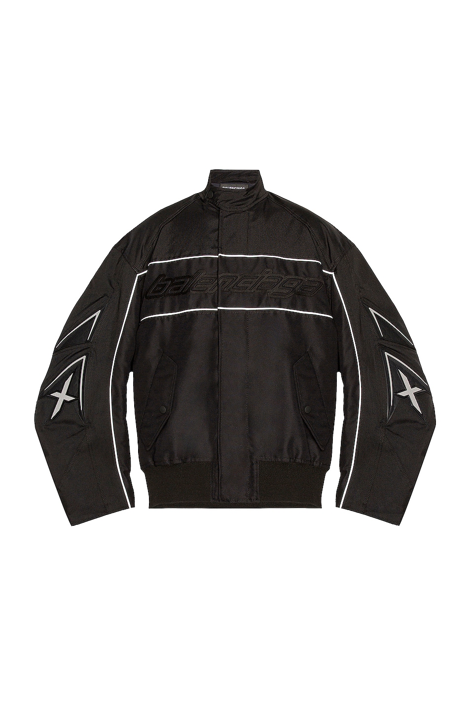 Image 1 of Balenciaga Racing Jacket in Black & Grey