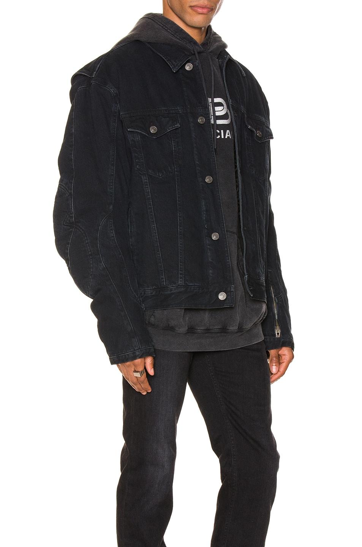 Image 2 of Balenciaga Biker Jacket in Midnight Blue
