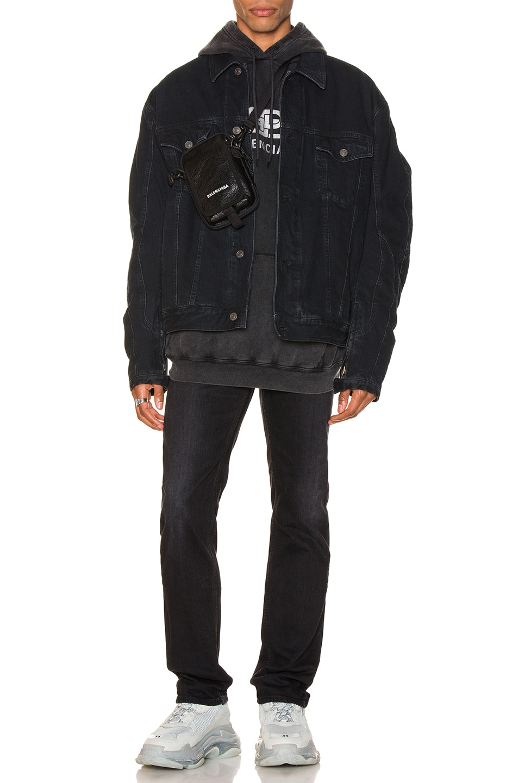 Image 4 of Balenciaga Biker Jacket in Midnight Blue