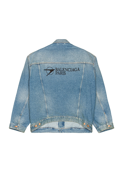 Image 1 of Balenciaga Large Fit Jacket in Medium Blue