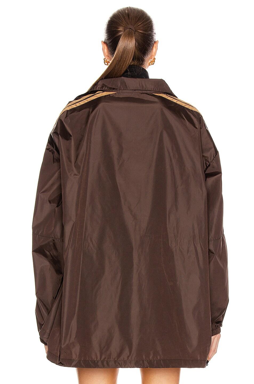 Image 5 of Balenciaga Zip-Up Logo Jacket in Dark Brown