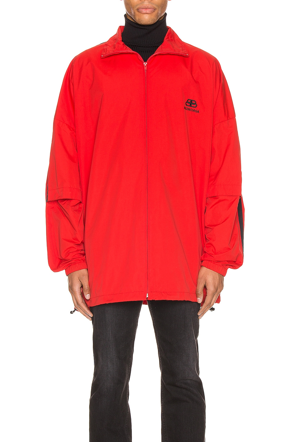 Image 1 of Balenciaga Double Sleeve Zip Up in Masai Red