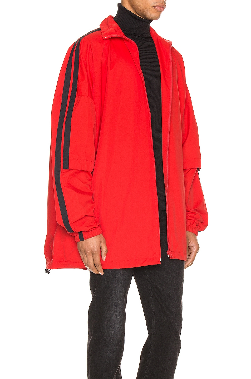 Image 4 of Balenciaga Double Sleeve Zip Up in Masai Red