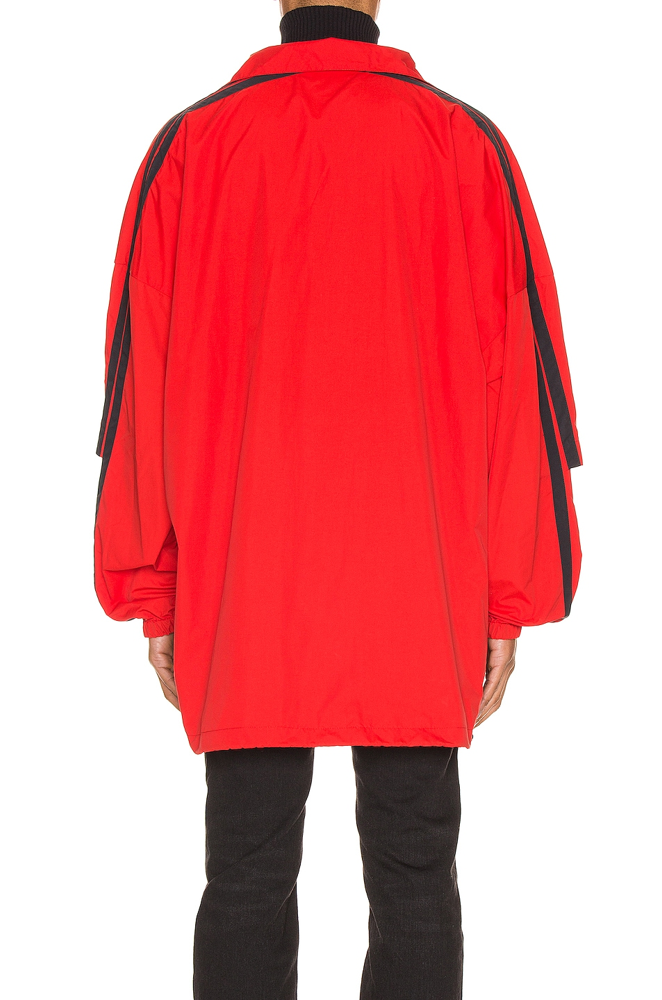 Image 5 of Balenciaga Double Sleeve Zip Up in Masai Red
