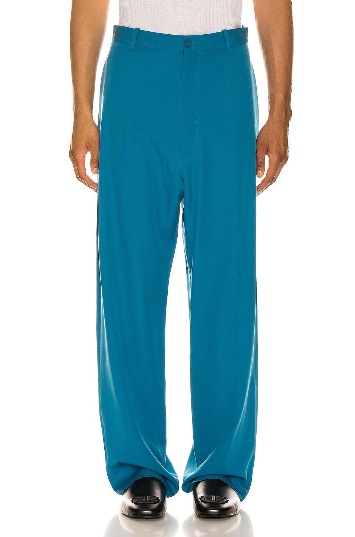Image 1 of Balenciaga Baggy Tailored Pants in Bahamas Blue