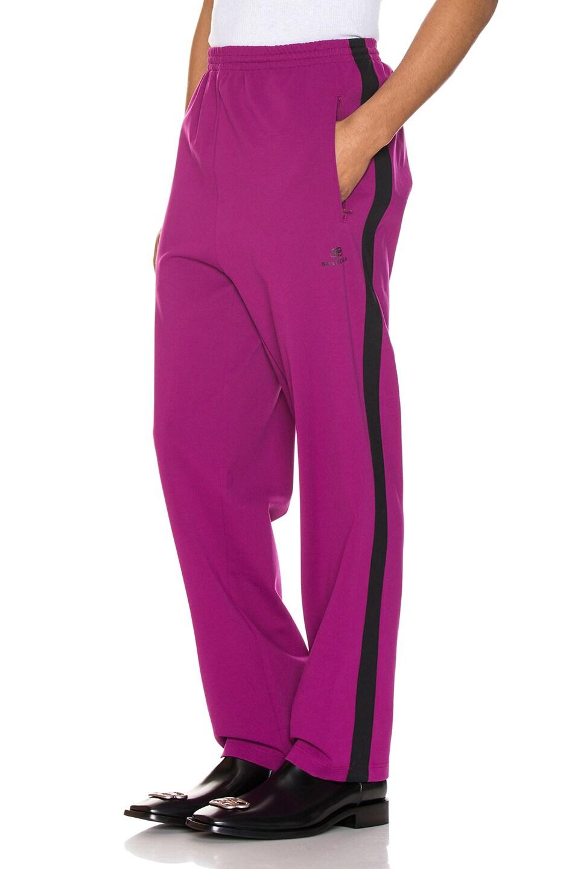 Image 1 of Balenciaga Tracksuit Pants in Grape & Black